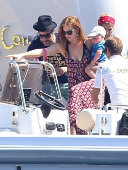 Isla Fisher and Sacha Baron Cohen Vacation In Monaco with son Montgomery