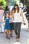 Jennifer Garner at church with kids Violet and Seraphina