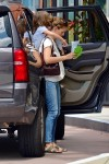 Jennifer Garner carries daughter Seraphina while out with husband Ben Affleck