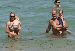 Kelsey Grammer and his wife Kayte Walsh with daughter Faith and son Kelsey Gabriel in Miami