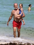 Kelsey Grammer with his daughter Faith in Miami