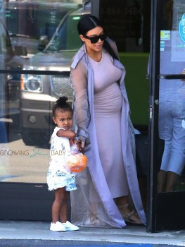 Kim Kardashian with daughter North West