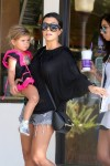Kourtney Kardashian out in Malibu with daughter Penelope