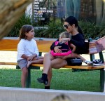 Kourtney Kardashian out in Malibu with daughter Penelope and son Mason