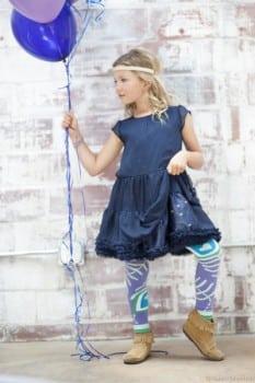 Luna-Leggings tutu leggings purple:teal