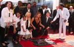 Mariah Carey with her twins Moroccan and Monroe Cannon at Hollywood Walk Of Fame Star Ceremony
