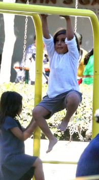 Mason Dash Disick at the park in Malibu