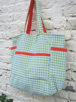 Maxine's Sweet Houndstooth Upcycled Weekender