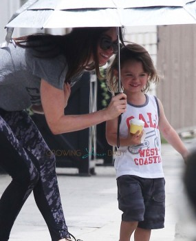 Megan Fox With Son Noah Green