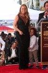 Moroccan Cannon holds on to his mom Mariah Carey @ her Hollywood Walk of Fame Ceremony
