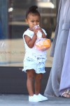 North West leaving a birthday party in Tarzana