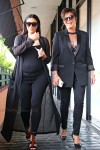 Pregnant Kim Kardashian and Kris Jenner out for lunch in LA