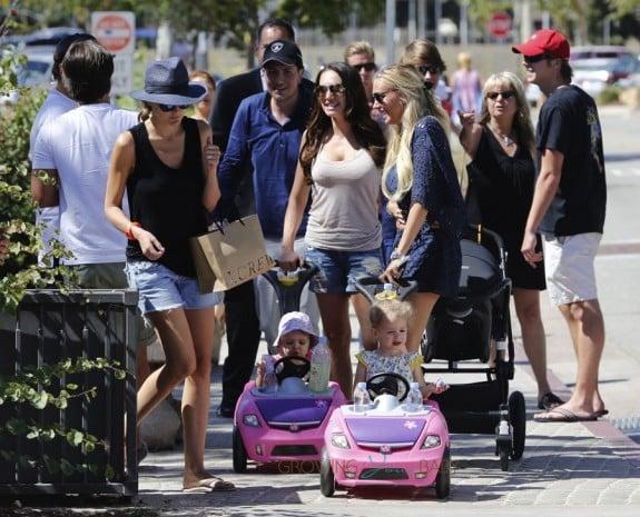Tamara Ecclestone, Sophia Rutland, Jay Rutland, Petra Ecclestone, Lavinia Stunt, James Stunt out in Malibu