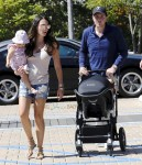 Tamara Ecclestone, Sophia Rutland and James Stunt out in Malibu