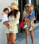 Tamara Ecclestone and sister Petra Stunt do lunch with their daughters in Beverly Hills