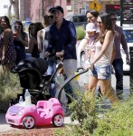 Tamara Ecclestone with daughter Sophia and Jay Stunt out in LA
