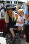 Tori Spelling at the Farmer's Market with son Finn