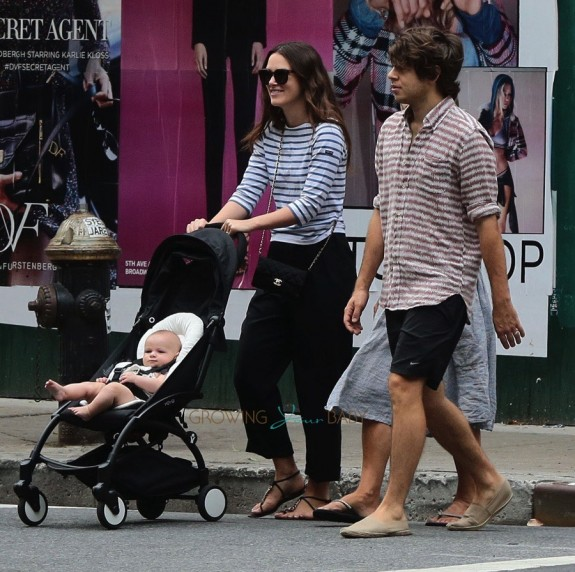 Actress Keira Knightley and husband James Righton step out with daughter Edie