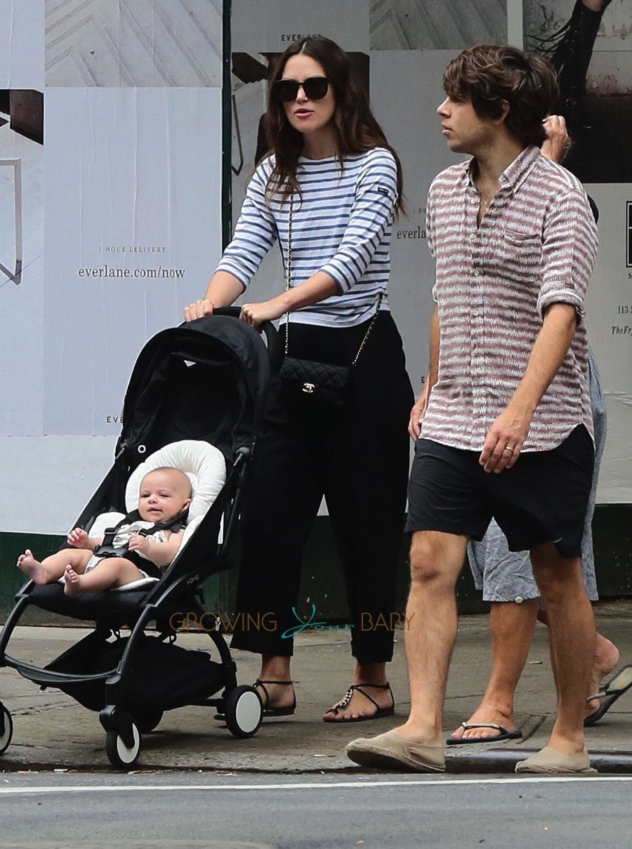 Actress Keira Knightley and husband James Righton step out