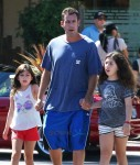 Adam Sandler takes his daughters Sunny and Sadie to breakfast in Malibu