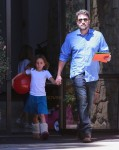 Ben Affleck with daughter Seraphina at Church