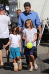 Ben Affleck with daughters Seraphina and Violet at the farmer's market