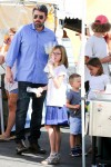 Ben Affleck with kids Sam, Seraphina and Violet at the farmer's market