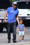 Ben Affleck with son Samuel at the market in Pacific Palisades