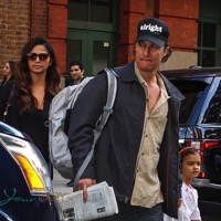 Matthew McConaughey and Camila Alves Shop In NYC With Their Kids