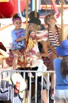 Denise Richards at the Malibu Cookoff with daughters Sam and Eloise
