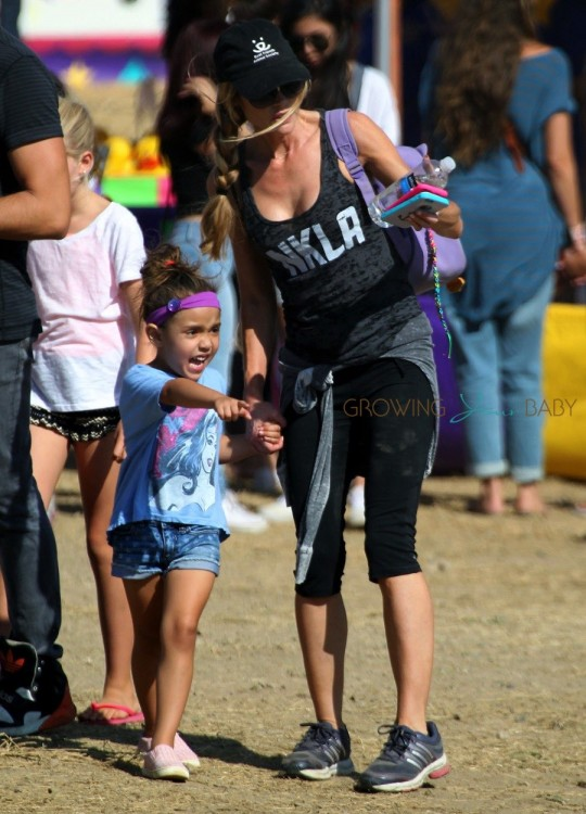 Denise Richards takes her daughter Eloise to the fair in Malibu