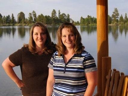Identical twin sisters Kerri Bunker and Kelli Wall