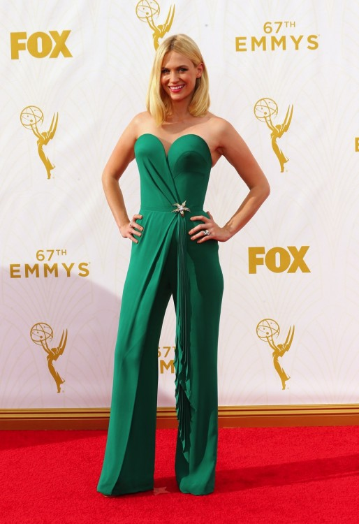 January Jones - 67th annual Primetime Emmy Awards