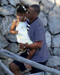Jay-z in the South of France with daughter Blue Ivy