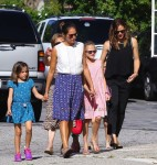 Jennifer Garner with kids Violet, and Seraphina at the market in Pacific Palisades
