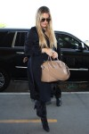 Khloe Kardashian arriving at LAX