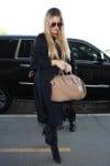Khloe Kardashian arriving at LAX