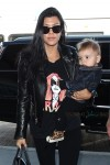 Kourtney Kardashian at LAX with son Reign Disick