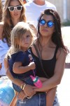 Kourtney Kardashian with daughter Penelope at the malibu cookout