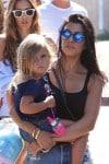 Kourtney Kardashian with daughter Penelope at the malibu cookout