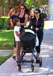 Kourtney Kardashian with kids Mason and Penelope at the market