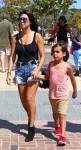 Kourtney Kardashian with son Mason Disick at the malibu cookout