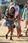 Kourtney Kardashian with son Mason and Penelope at the malibu cookout