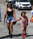 Kourtney Kardashian with son Mason and Penelope at the malibu cookout