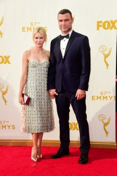 Naomi Watts and Liev Schreiber at the 67th annual Primetime Emmy Awards