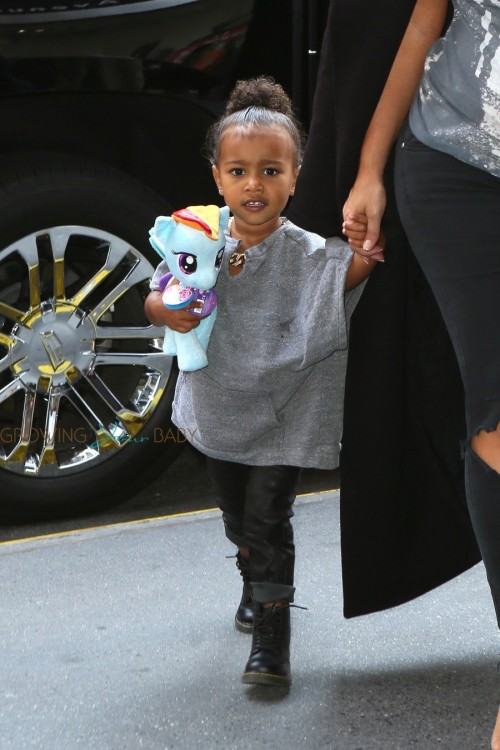 North West arriving at Toys R US in NYC