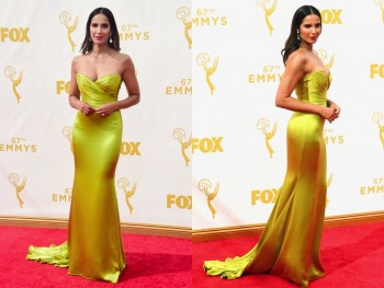 Padma Lakshmi at the 67th annual Primetime Emmy Awards