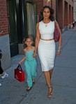 Padma Lakshmi out in NYC with daughter Krishna Lakshmi-Dell