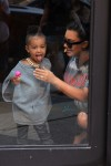 Pregnant Kim Kardashian and daughter North West at Toys R US
