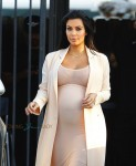Pregnant Kim Kardashian leaves a studio in Sherman Oaks CA